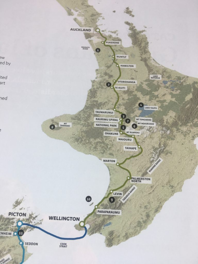 Northern Explorer, Kiwi Rail route