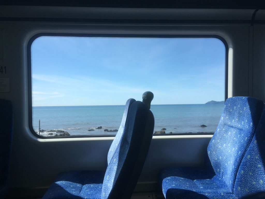 Trainline between Waikanae and Wellington slides along the beautiful coast
