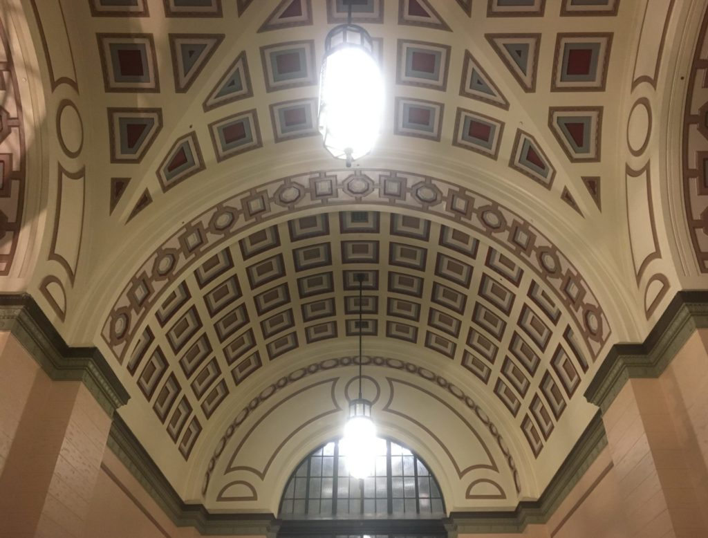 Wellington Train Station ceiling detail