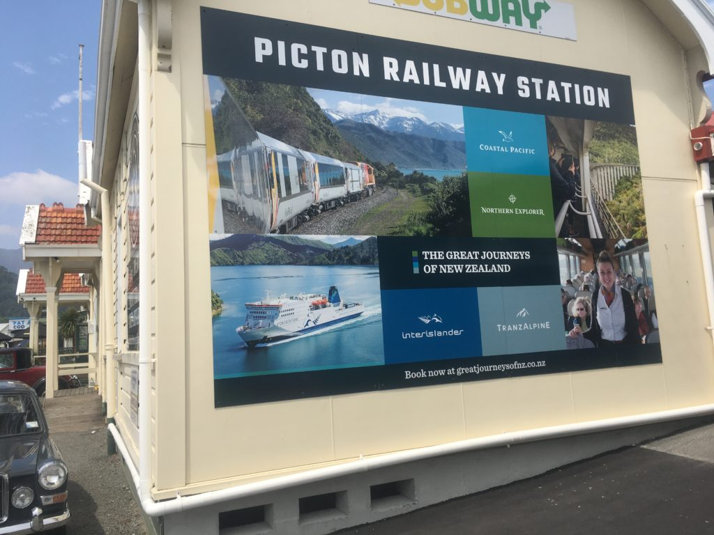 Picton Railway Station, cute and efficient