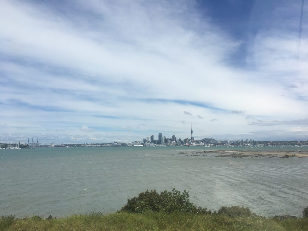 Auckland city from the Hibiscus Coast bus