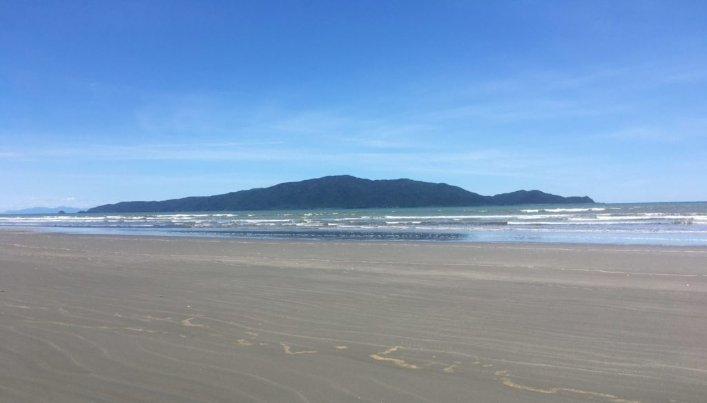 Kapiti Island as seen from Waikanae beach