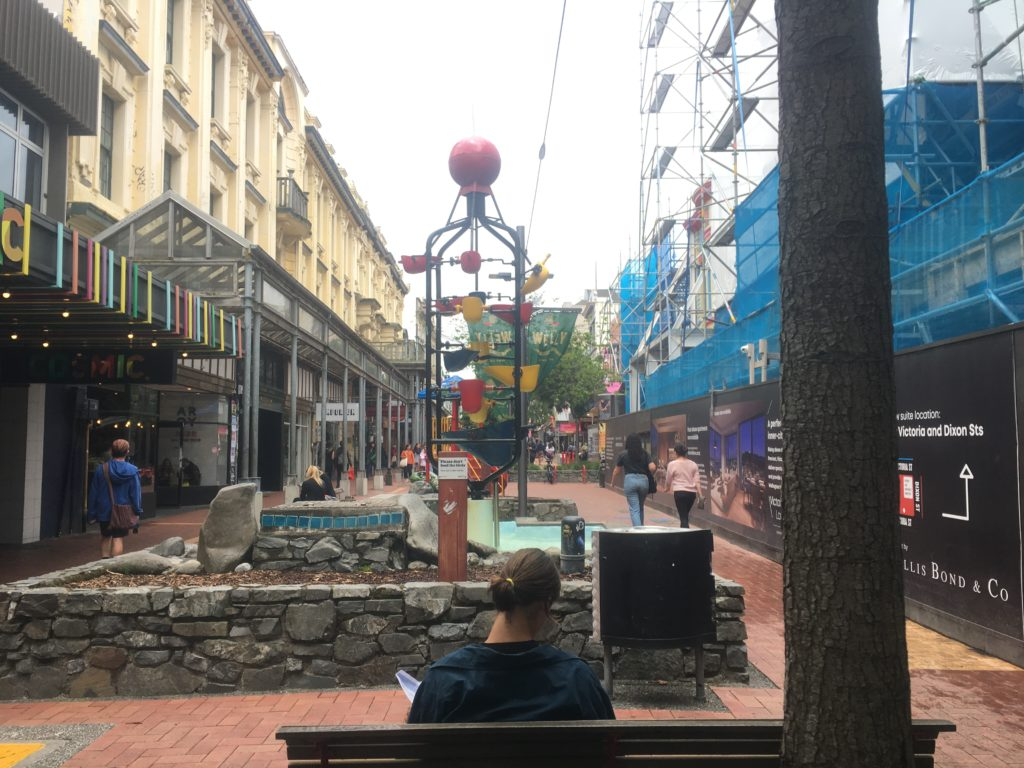 Important Wellington artistic statement - the Bucket Sculpture in Cuba Mall