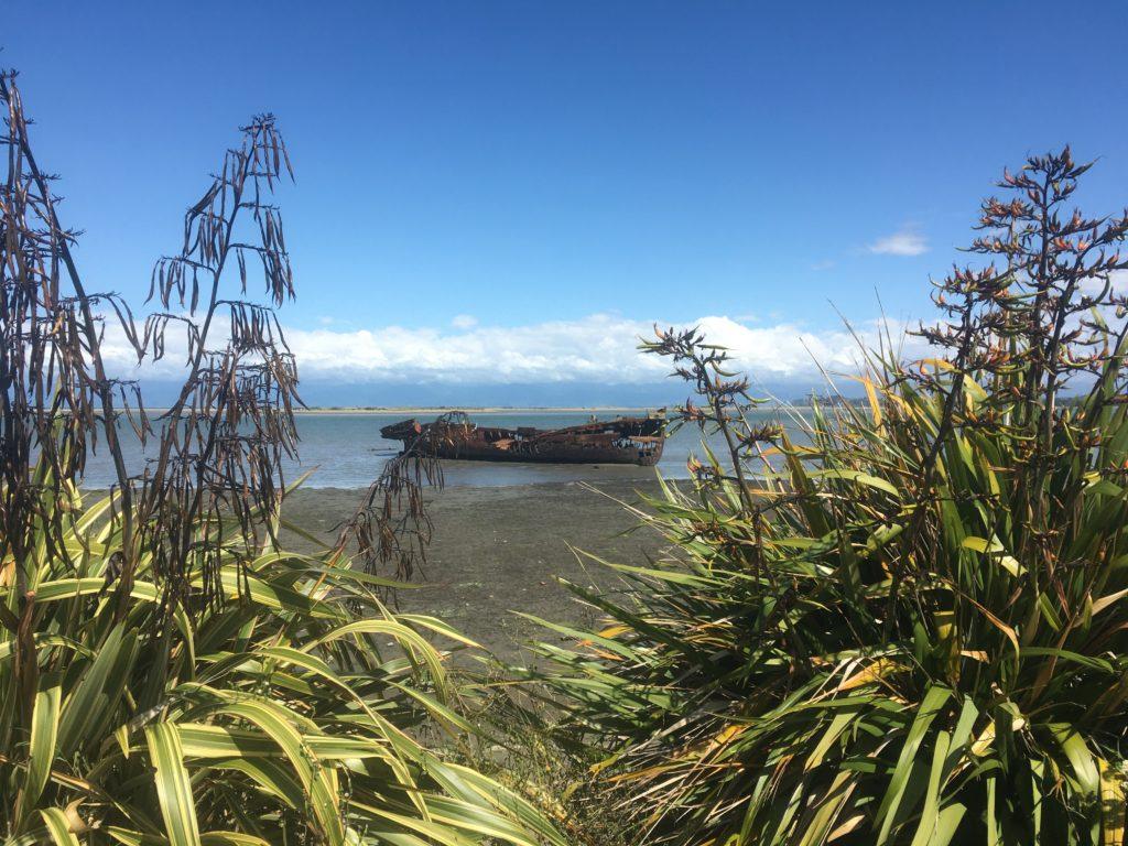 wreck of the Jane Seddon in Motueka