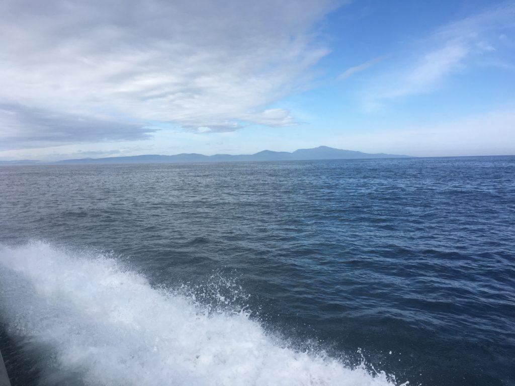 Leaving the South Island behind - bye bye Bluff!