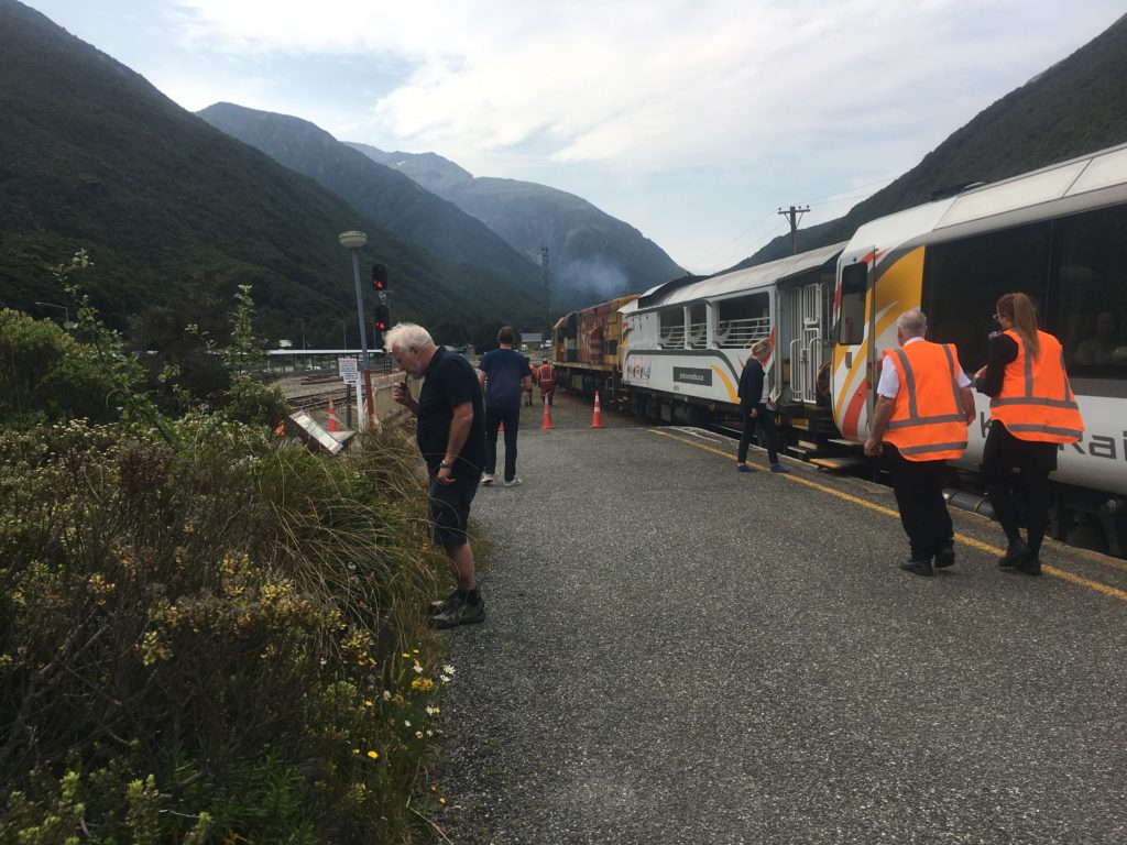 Passengers on the TransAlpine get to stretch their legs