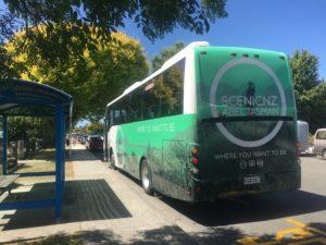 Big bus from Abel Tas to Mot