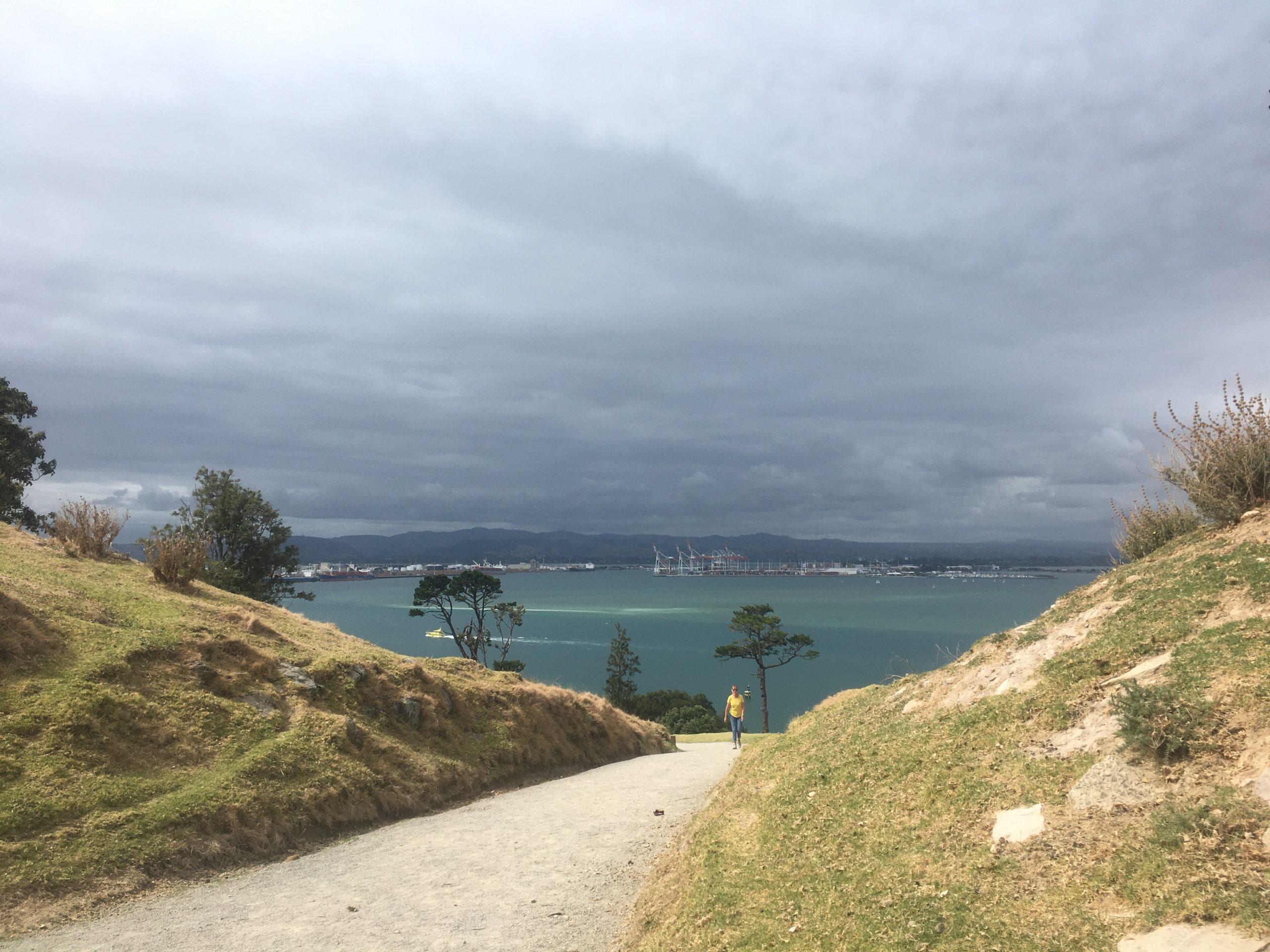 Port of Tauranga as seen from Mount Manganui
