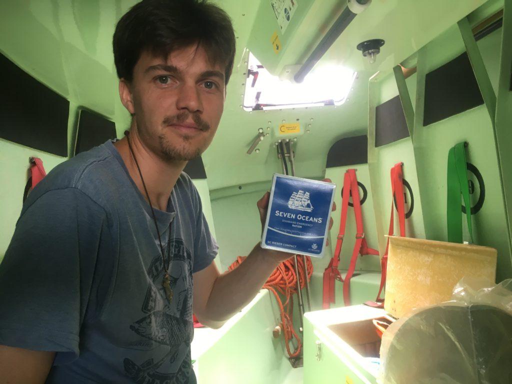 Shipwreck food on board liferaft Ontario II
