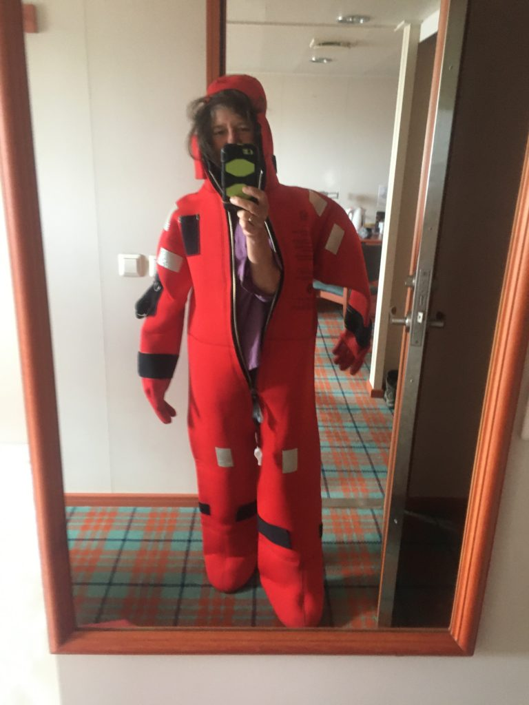 Check out the Gumby feet on the immersion suit on the Ontario II