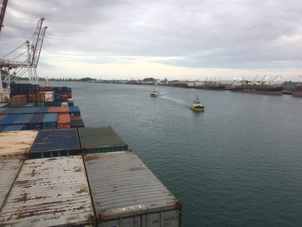 Here come our tugs at the Port of Tauranga