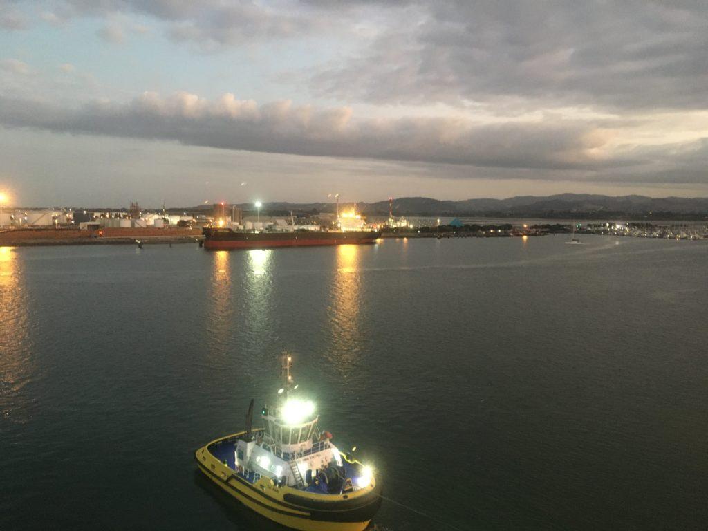 Port of Tauranga as Ontario II leaves the wharf