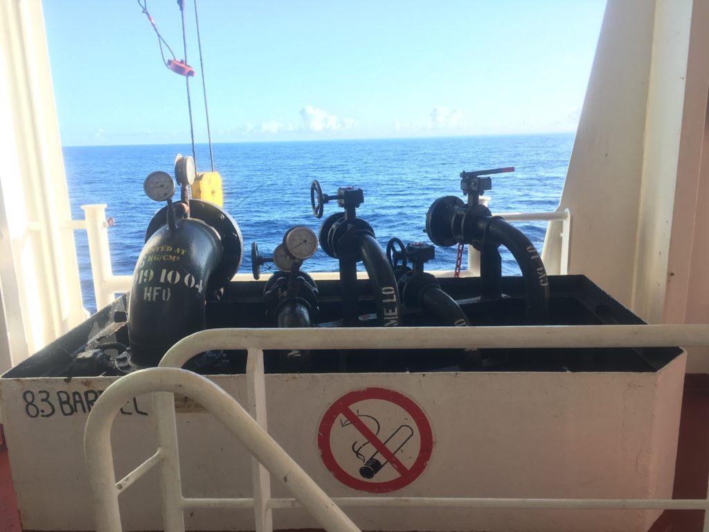 If Ontario II needs to refuel at sea