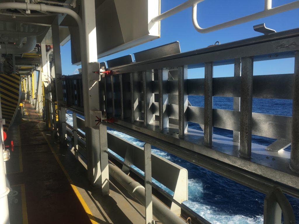 gangplank stowed neatly Ontario II