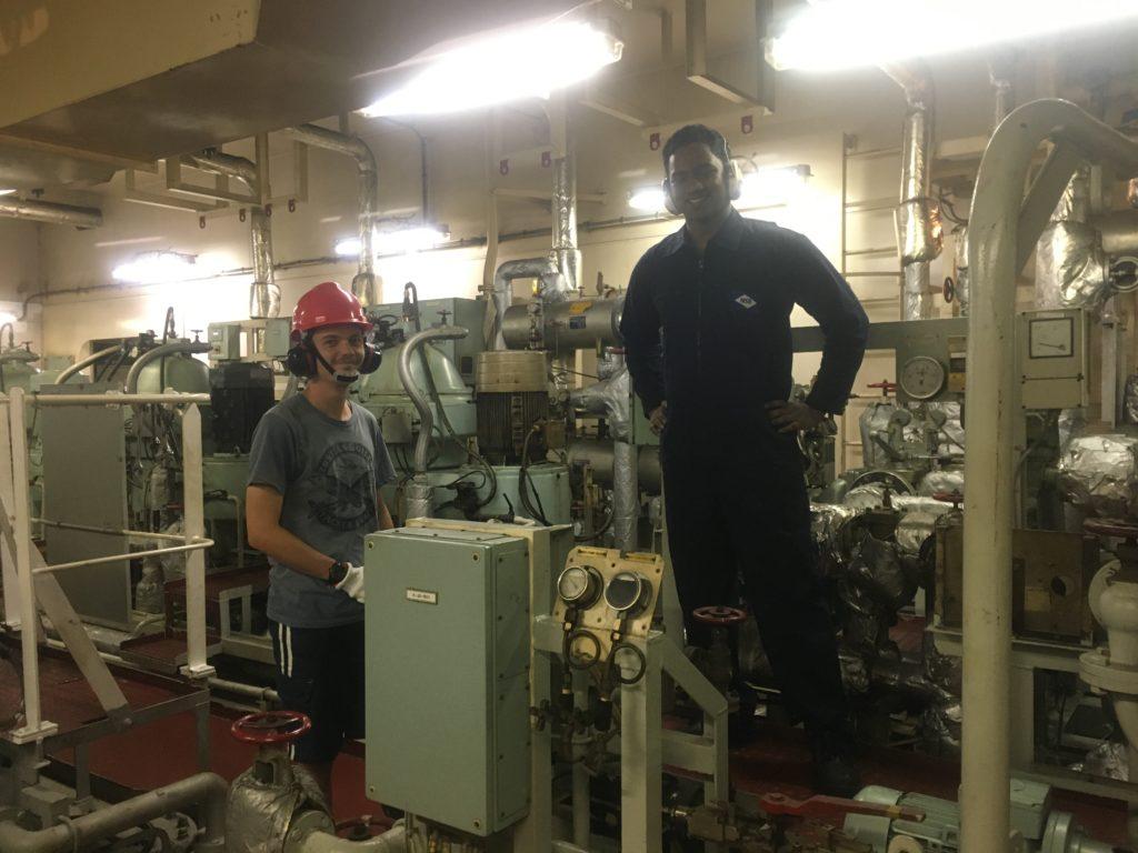 Ravinoo in the engine room Ontario II