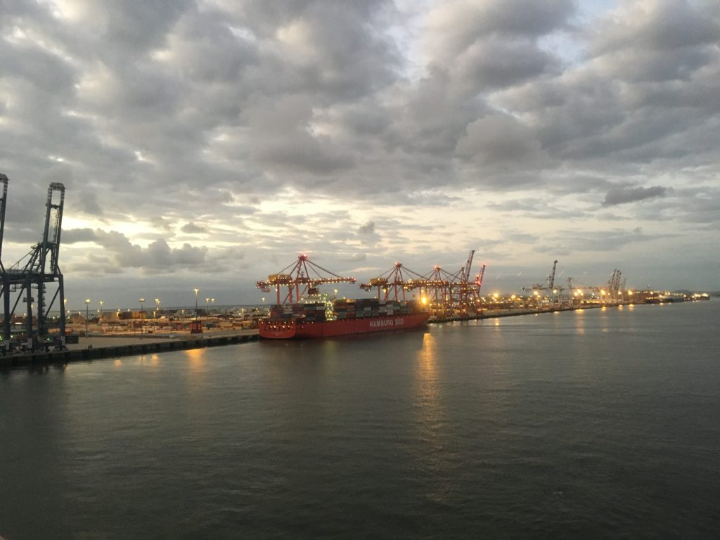 Port of Brisbane in the early morning from Ontario II