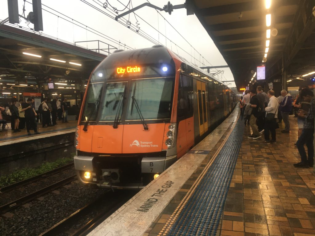 Sydney city trains