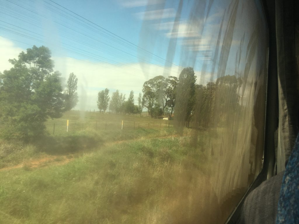 View from the train from Moss Vale to Albury