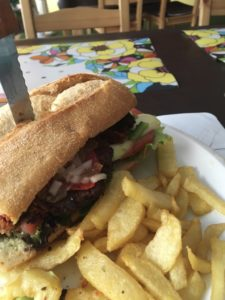 Veggie burger in Santander